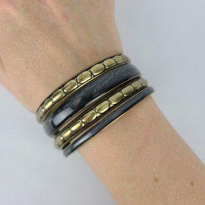 Bronze & Grey Bangle Bracelets